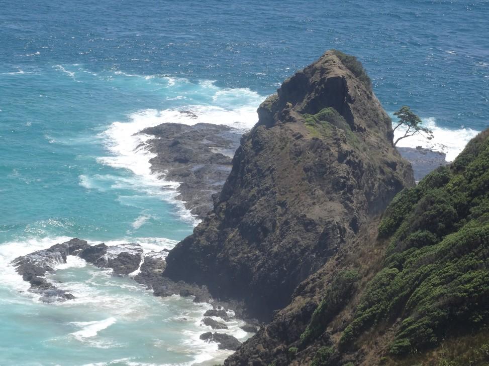 Rencontre des deux mers à Cape Reinga